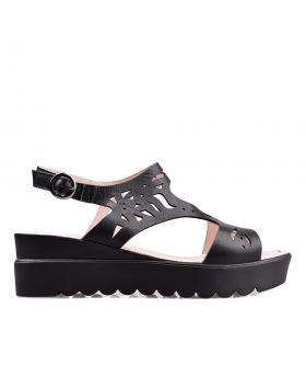 Черни ежедневни дамски сандали 2004 в online магазин Fashionzona
