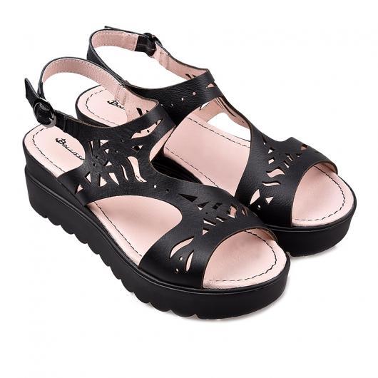 Черни ежедневни дамски сандали Carissa