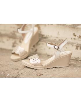 Златисти дамски ежедневни сандали 1818p в online магазин Fashionzona