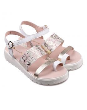 Бели дамски ежедневни сандали 1095 в online магазин Fashionzona