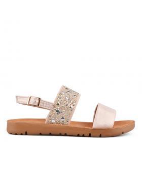 Златисти дамски ежедневни сандали 0133958 в online магазин Fashionzona