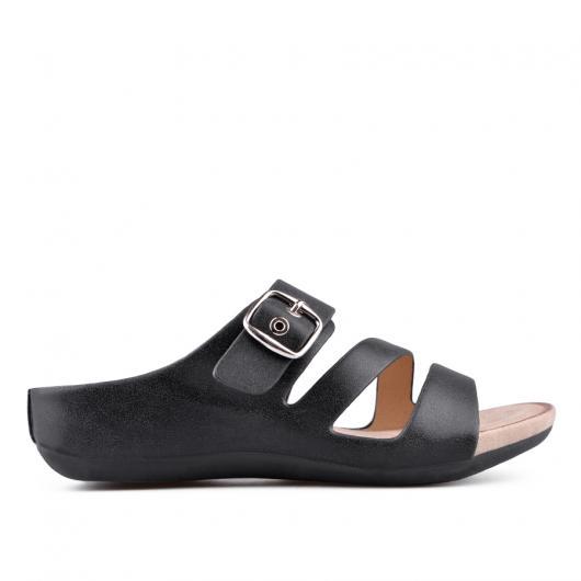 Черни дамски ежедневни чехли Leeann