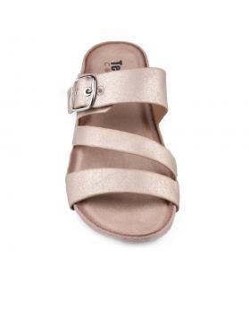 Златисти дамски ежедневни чехли Preeti в online магазин Fashionzona