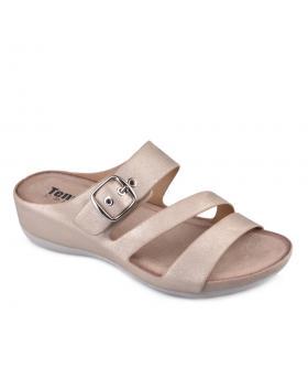 Златисти дамски ежедневни чехли 0134204 в online магазин Fashionzona