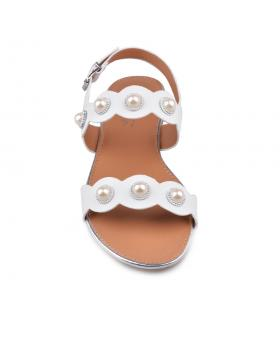 Бели дамски ежедневни сандали Kamille в online магазин Fashionzona