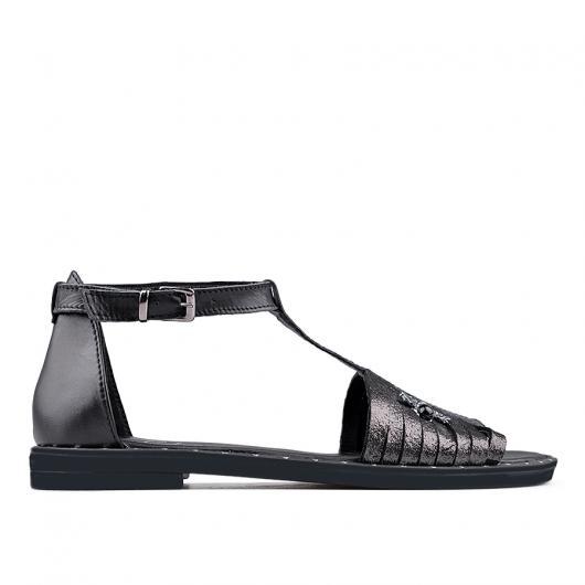 Черни дамски ежедневни сандали 0136198