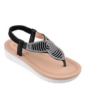 Черни дамски ежедневни сандали 0134423 в online магазин Fashionzona