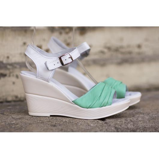 Зелени дамски ежедневни сандали 239