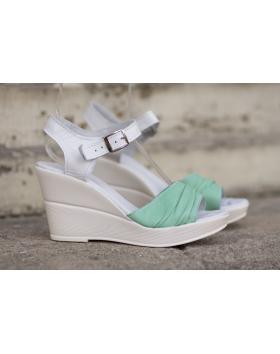 Зелени дамски ежедневни сандали 239 в online магазин Fashionzona