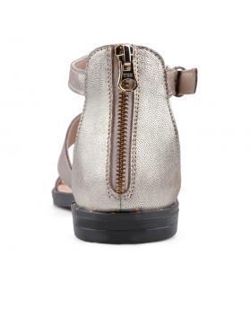 Златисти дамски ежедневни сандали Neha в online магазин Fashionzona