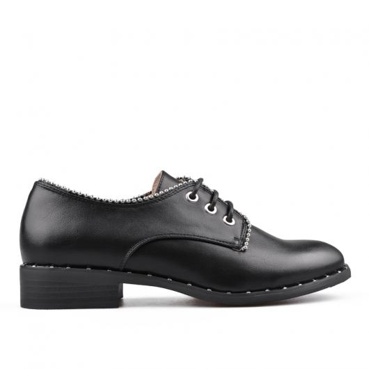 Черни ежедневни дамски обувки 0134514