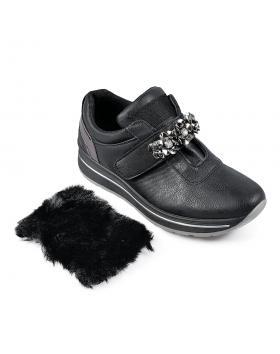 Черни дамски кецове Divya в online магазин Fashionzona