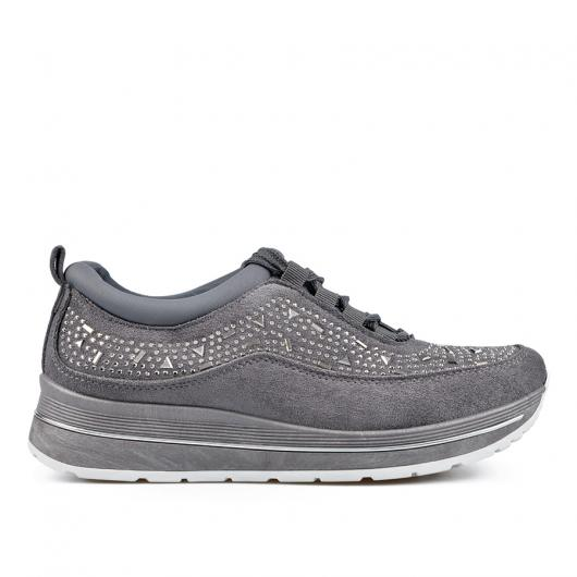 Сиви дамски ежедневни обувки 0135162