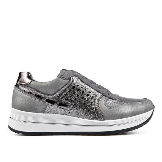 Сиви дамски ежедневни обувки 0135155