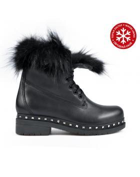 Черни дамски ежедневни боти с топъл хастар 0136178 в online магазин Fashionzona