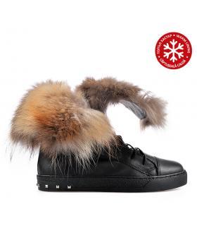 Черни дамски ежедневни боти с топъл хастар 0136185 в online магазин Fashionzona