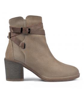 Бежови дамски елегантни боти 0136166 в online магазин Fashionzona