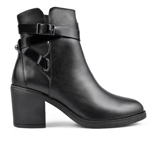 Черни дамски елегантни боти 0136165