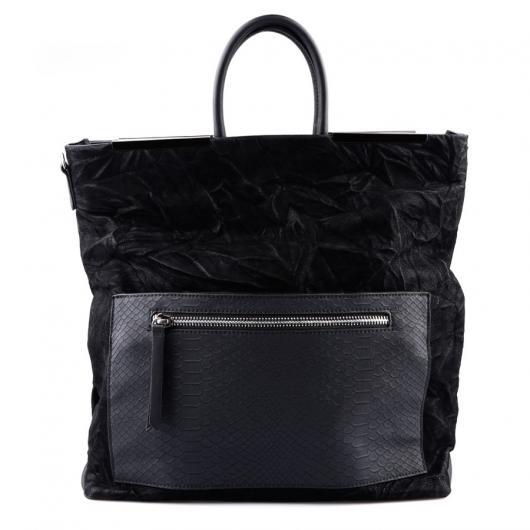 Черна дамска ежедневна чанта Bridgett