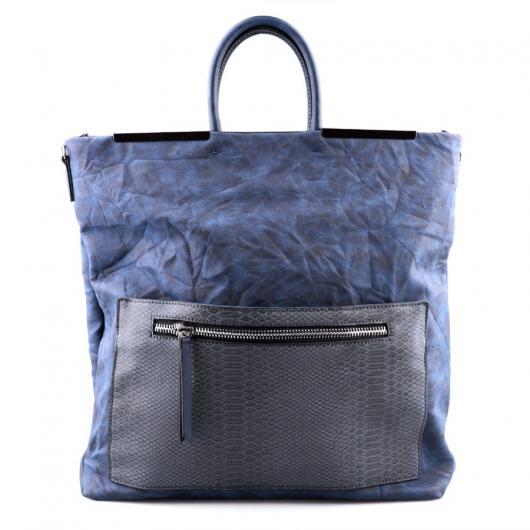 Синя дамска ежедневна чанта Milagritos