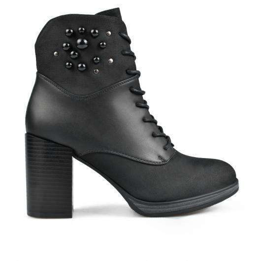 Черни дамски елегантни боти 0135297