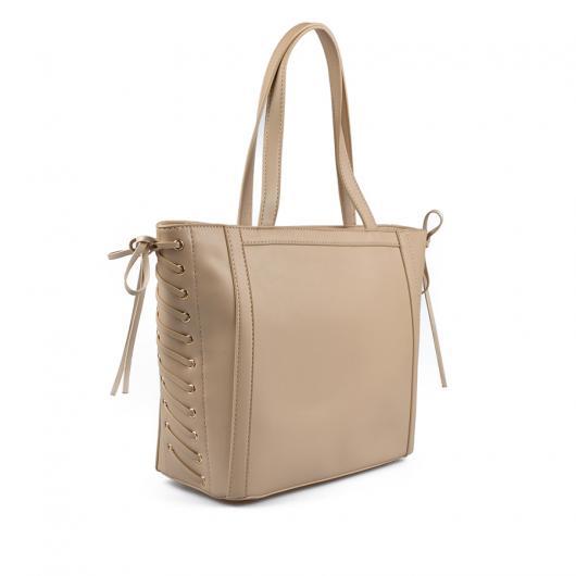 Бежова дамска ежедневна чанта Leala