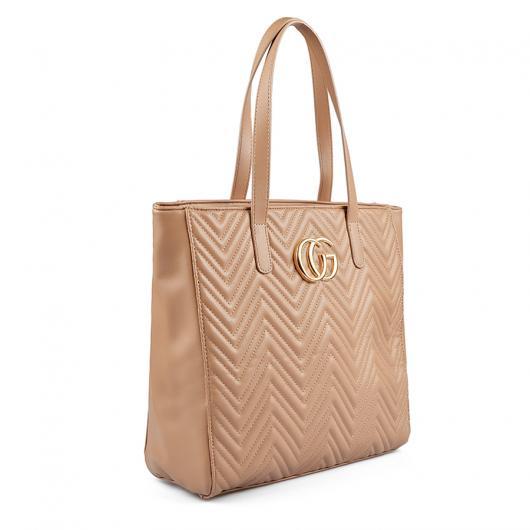 Бежова дамска ежедневна чанта Juwaneeta