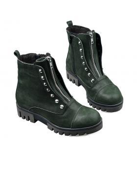 Зелени дамски ежедневни боти 3009 в online магазин Fashionzona
