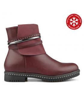 Червени дамски ежедневни боти с топъл хастар 0135241 в online магазин Fashionzona