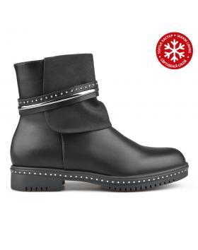 Черни дамски ежедневни боти с топъл хастар 0135240 в online магазин Fashionzona