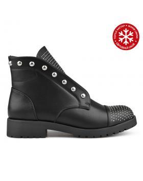 Черни дамски ежедневни боти с топъл хастар 0135251 в online магазин Fashionzona