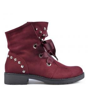Червени дамски ежедневни боти 0135268 в online магазин Fashionzona