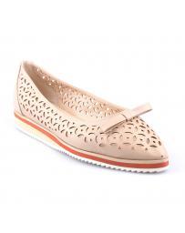 Бежови дамски ежедневни обувки Reva в online магазин Fashionzona