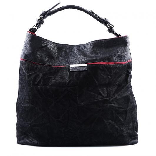 Черна дамска ежедневна чанта Angelia