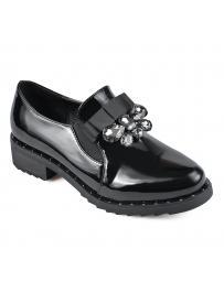 Черни дамски ежедневни обувки 0135326