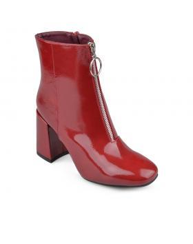 Червени дамски боти 0135931 в online магазин Fashionzona