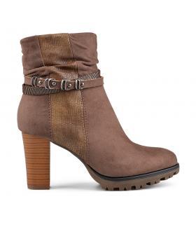 Кафяви дамски елегантни боти 0135676 в online магазин Fashionzona