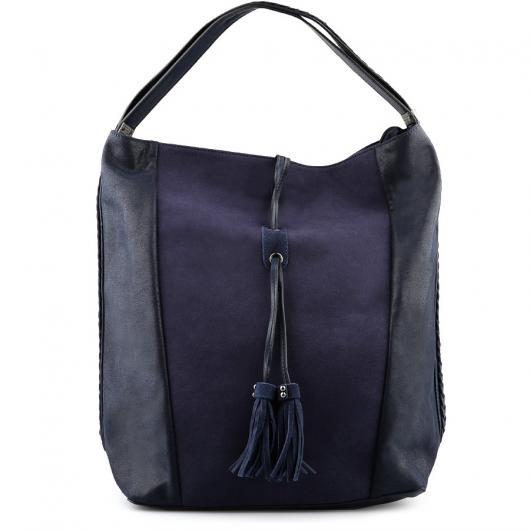 Тъмносиня дамска ежедневна чанта Charlayne