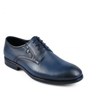 Сини мъжки елегантни обувки Elias в online магазин Fashionzona