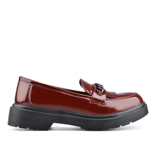 Червени дамски ежедневни обувки Claudine