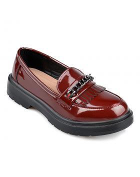 Червени дамски ежедневни обувки Claudine в online магазин Fashionzona