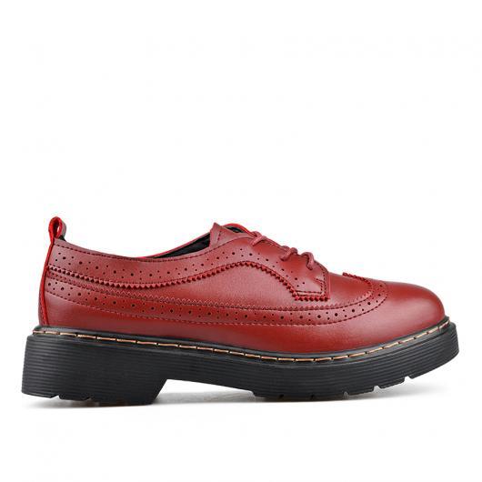 Червени дамски ежедневни обувки Alvina