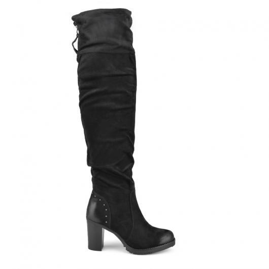 Черни дамски елегантни ботуши 0135321