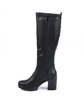 Черни елегантни дамски ботуши Sean в online магазин Fashionzona