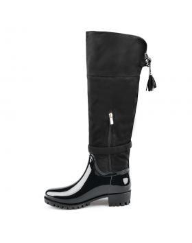 Черни дамски гумени ботуши Luvina в online магазин Fashionzona