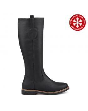 Черни дамски ежедневни ботуши с топъл хастар Acadia в online магазин Fashionzona