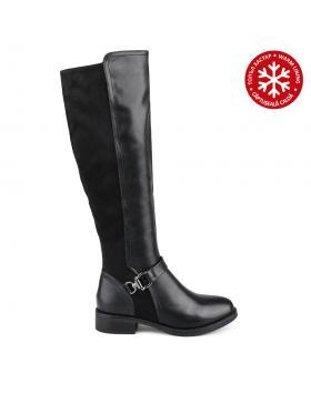 Черни дамски ежедневни ботуши с топъл хастар Moniqua в online магазин Fashionzona