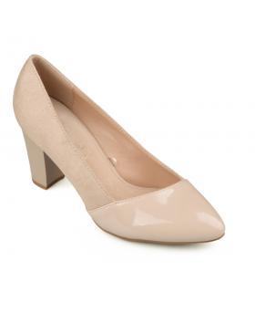 Бежови дамски елегантни обувки Shanelle в online магазин Fashionzona