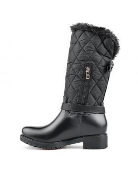 Черни дамски гумени ботуши с топъл хастар 0136059 в online магазин Fashionzona