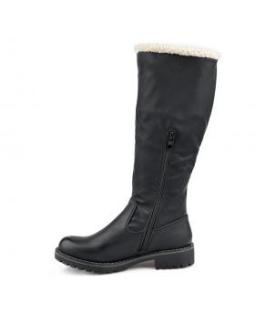 Черни дамски ежедневни ботуши с топъл хастар 0135707 в online магазин Fashionzona